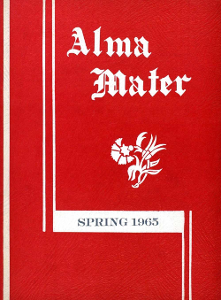 Cover of the first issue of Alma Mater.